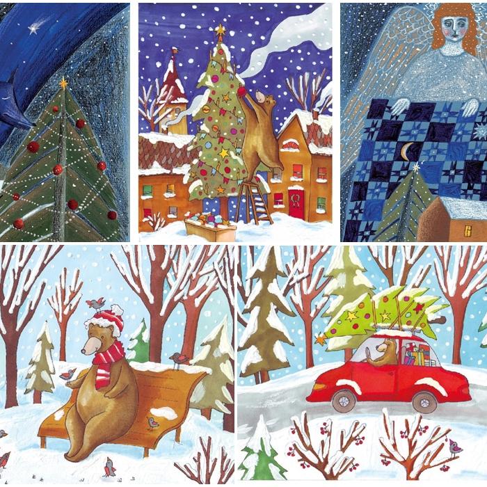 Волшебные открытки под Новый год