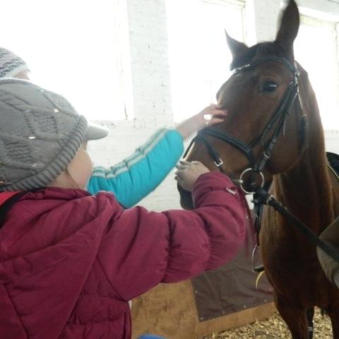 21.12.2012 состоялся выезд детей для катания на лошадке