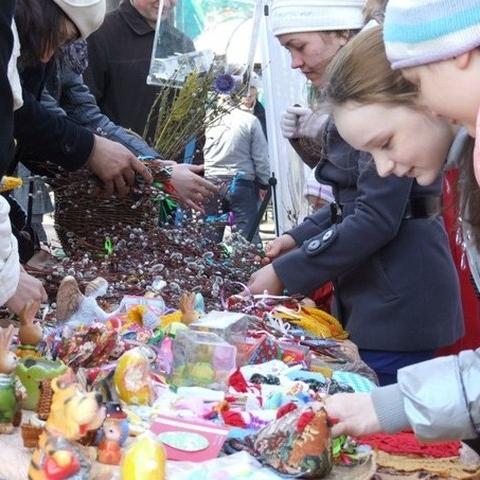 Благотворительная акция «Вербное воскресенье» в парке имени Горького