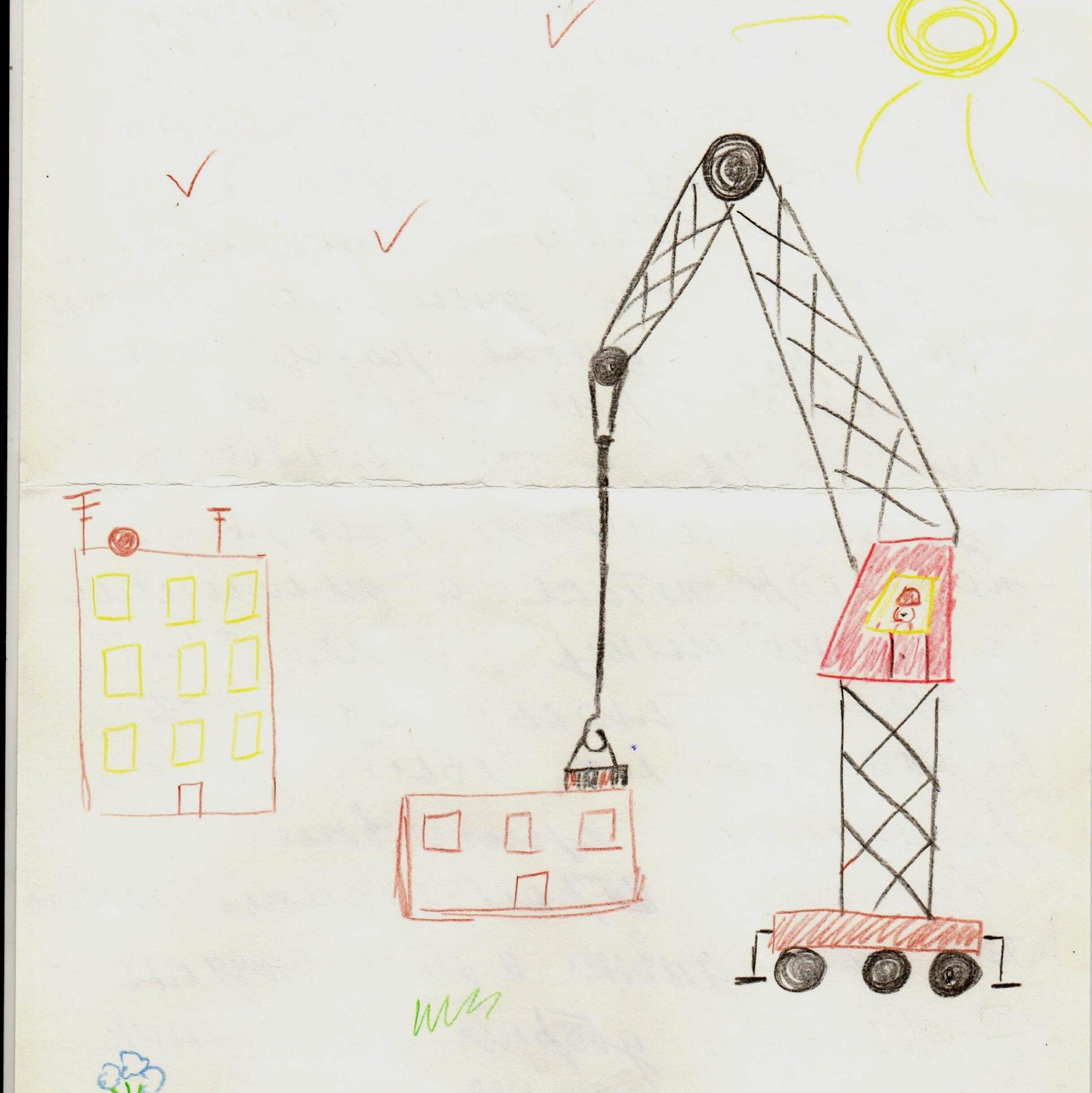Саша мечтает стать строителем