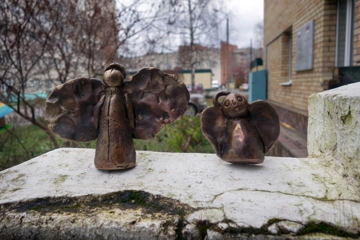 На стенах детского онкоцентра появились ангелы
